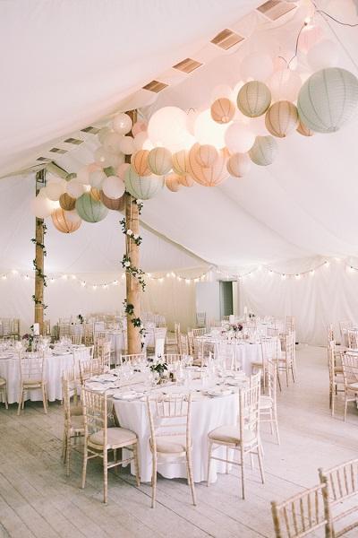 Strand bruiloft in tent