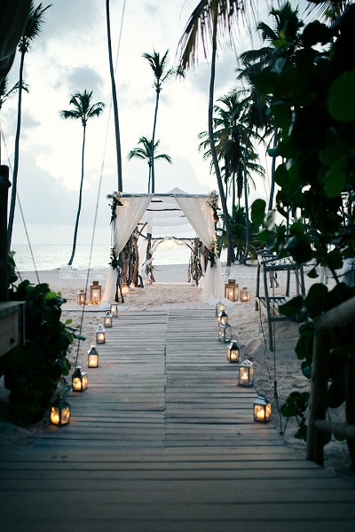 Strand bruiloft decoratie