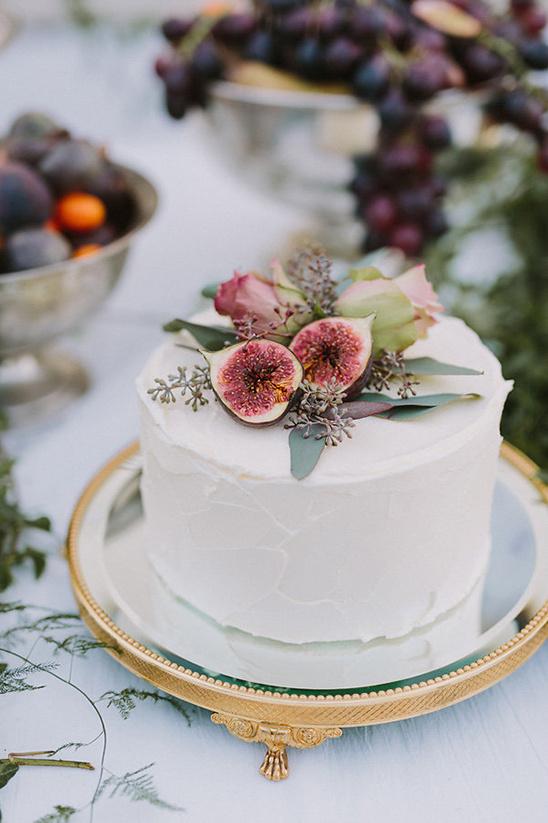 Kleine bruidstaart bestellen met verse vijgen