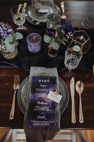 Galaxy tafel decoratie