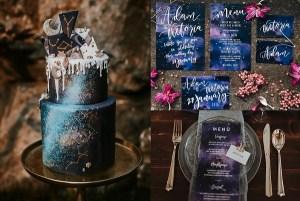 Galaxy bruiloft thema