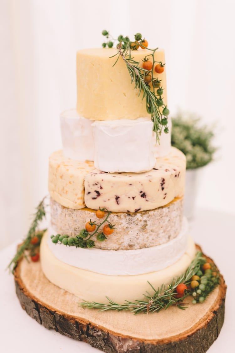 Bruidstaart van kaas