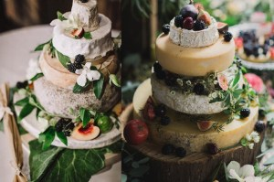 Twee bruidstaarten van kaas