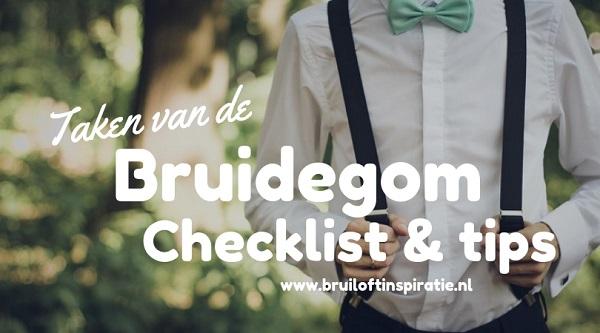 Taken van de bruidegom checklist