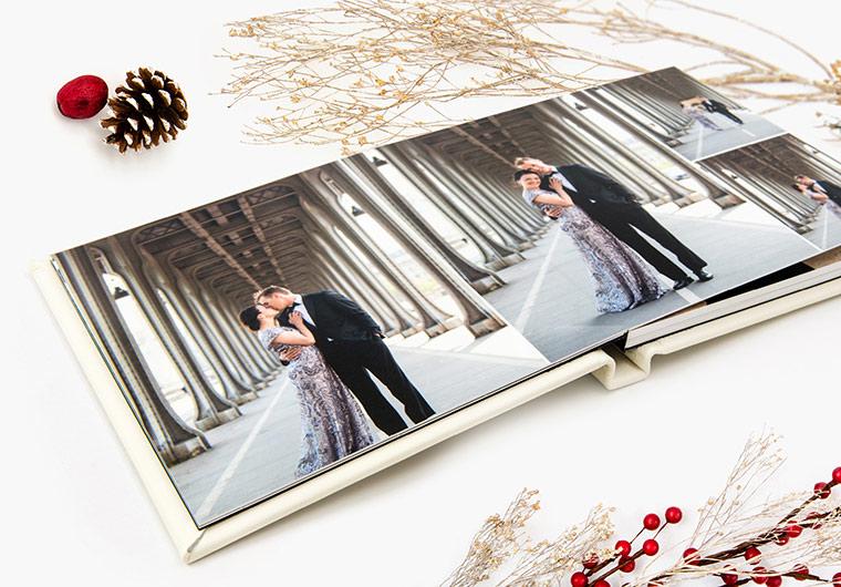 Trouwalbum van een winter bruiloft