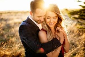Pre-wedding shoot tijdens golden hour