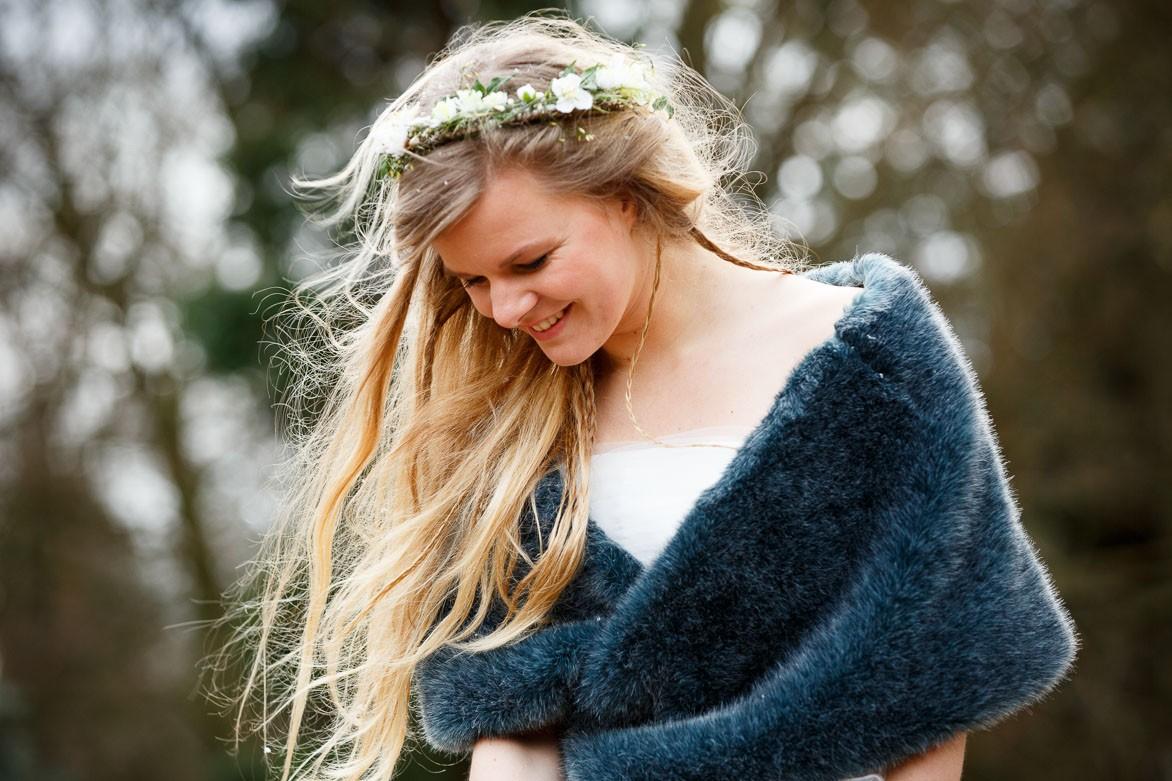 Winter bruid met vestje