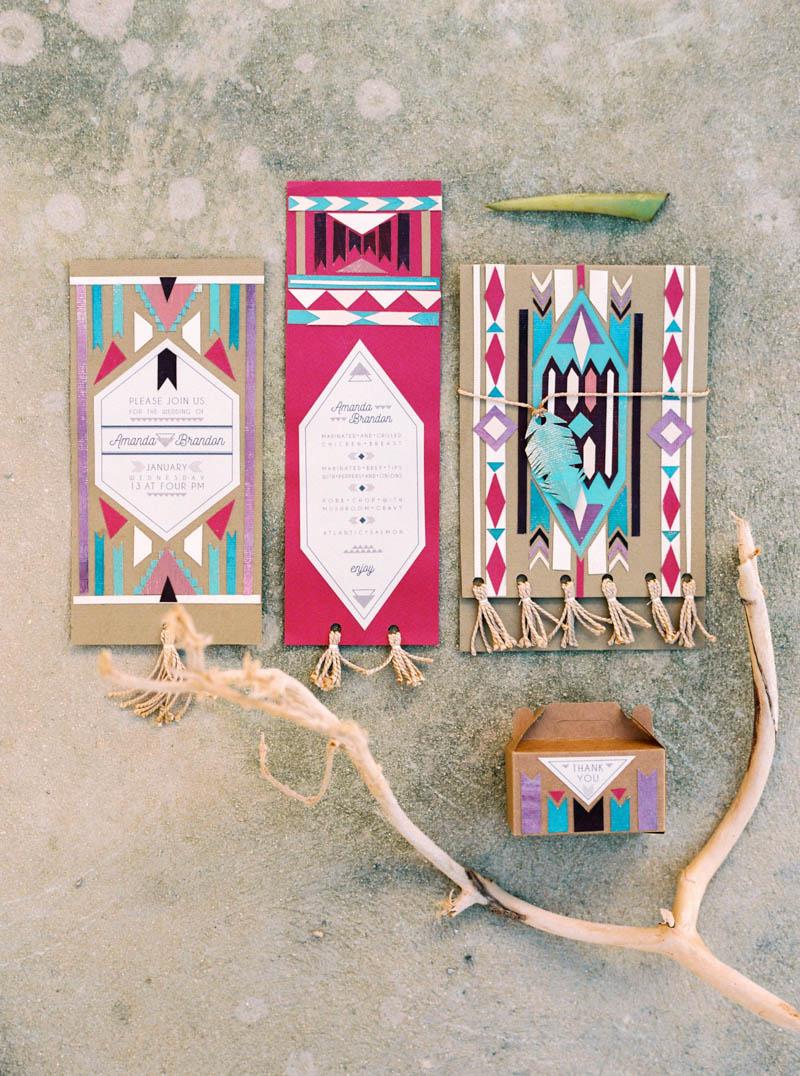 Trouwkaarten met Azteken print