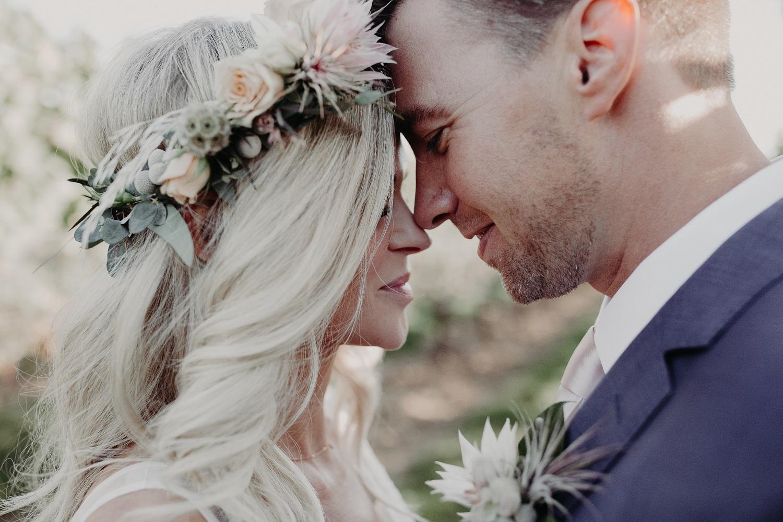 Bruidspaar op bruiloft