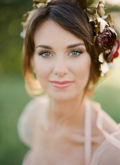 Bruid met lichte bruidsmake-up