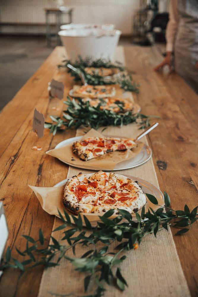 Pizzabar bruiloft