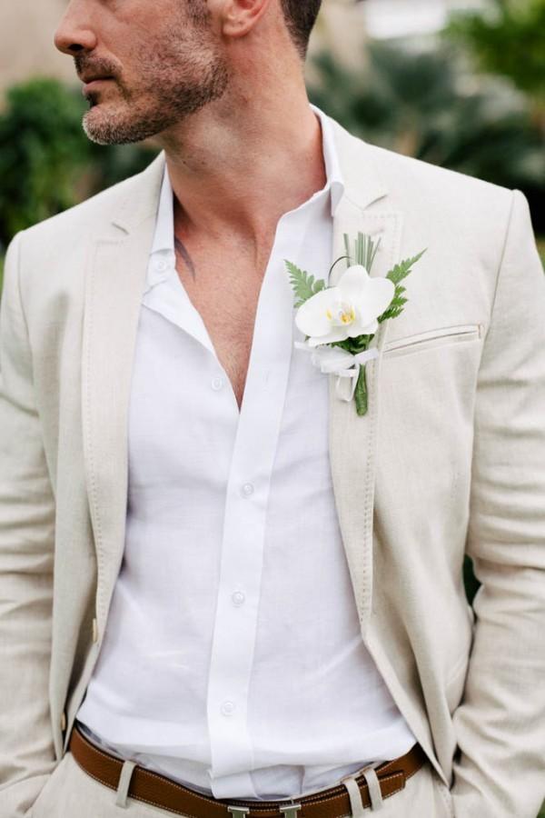 Summer chic outfit voor de bruidegom