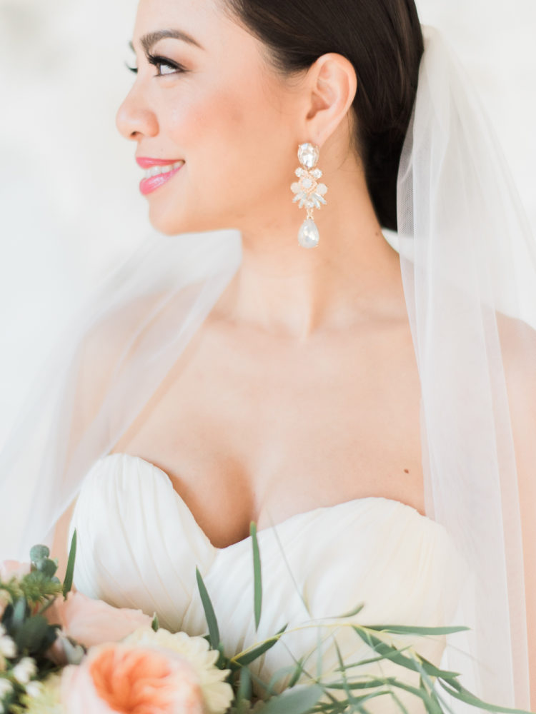 Oorbellen bruid zilver
