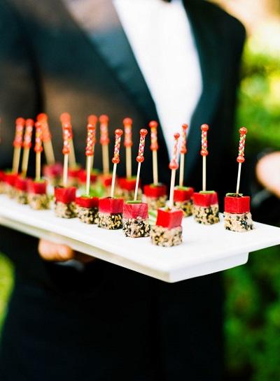 Sushi op bruiloft