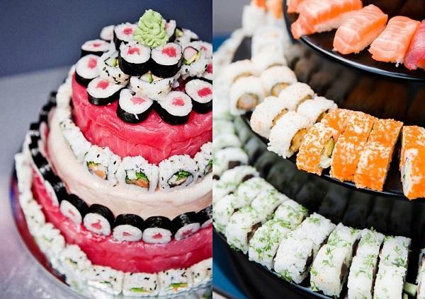 Sushi bruidstaart