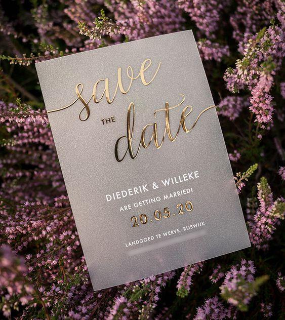 Save the date voor een bruiloft