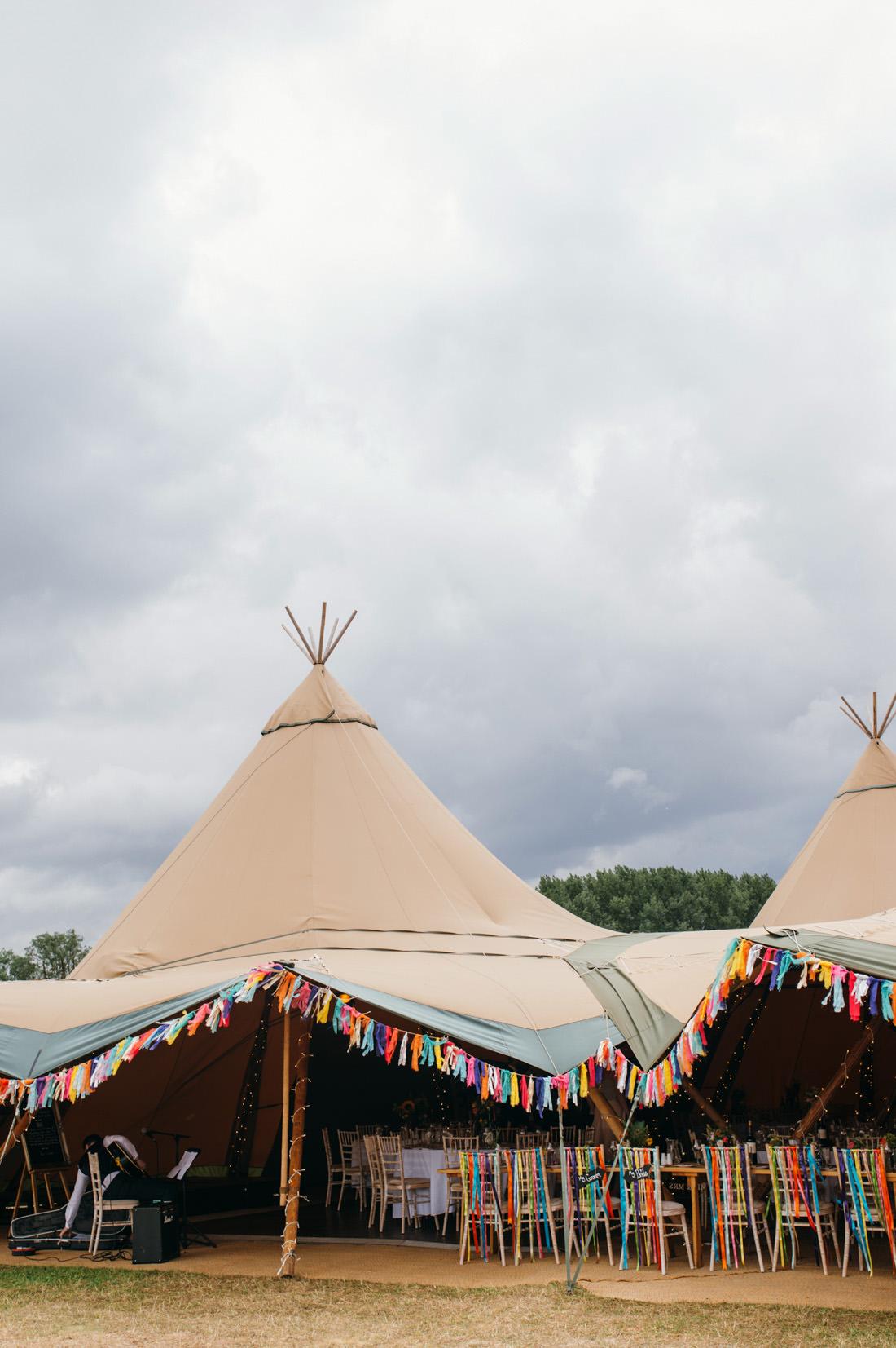 Bruiloft tenten met decoratie