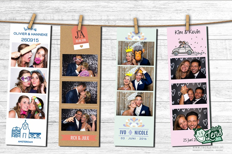 Photobooth strips bruiloft