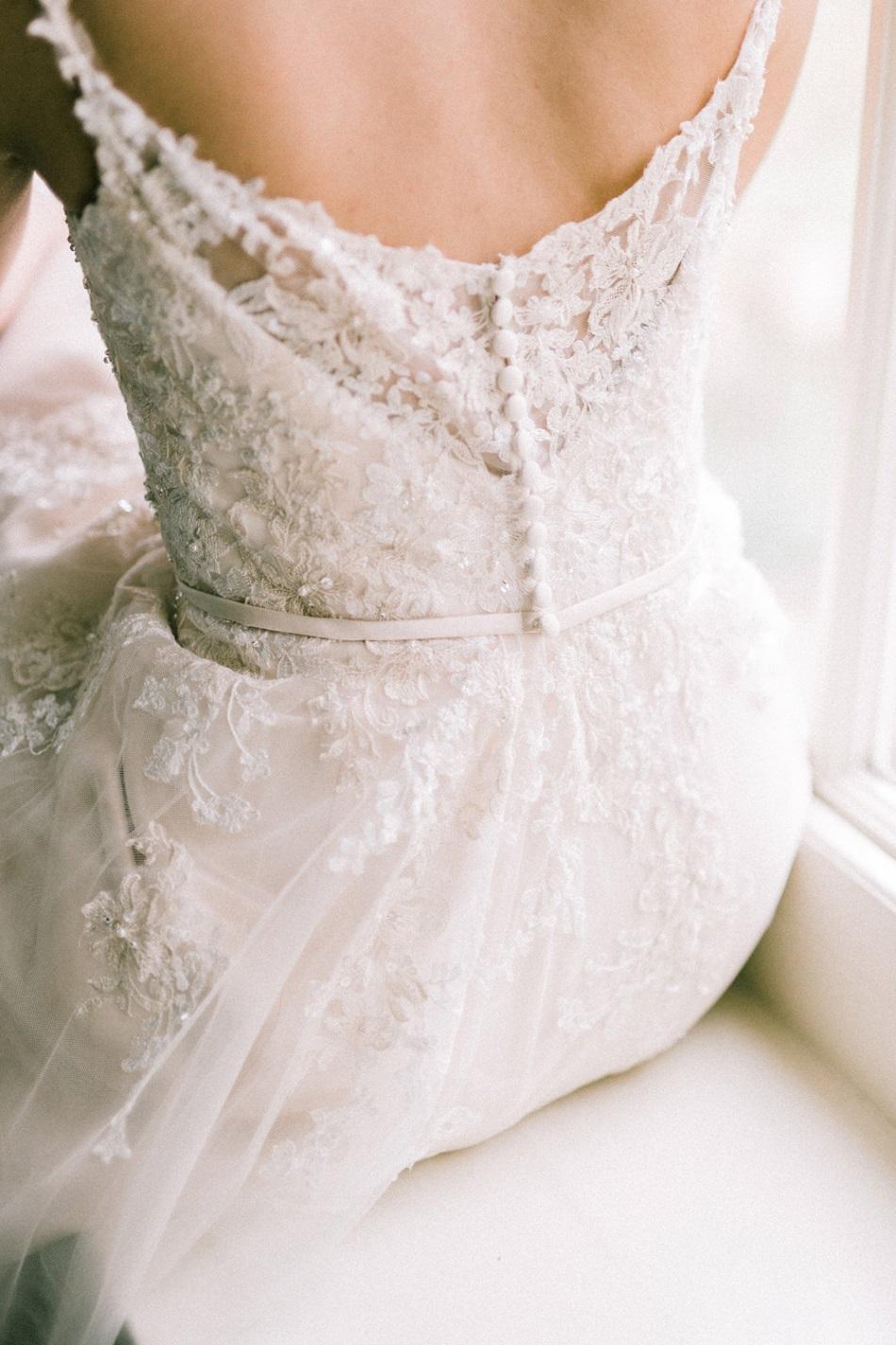 Achterkant van bruidsjurk