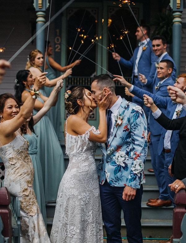 Afsluiting bruiloft met sterretjes