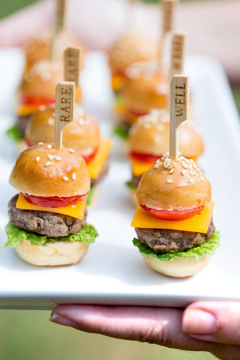 Mini hamburgers voor de bruiloft