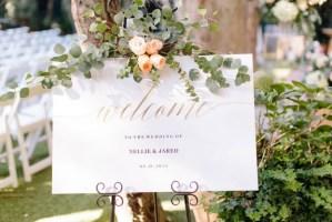 Welkomstbord bruiloft