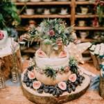 Bruidstaart van kaas met vijgen