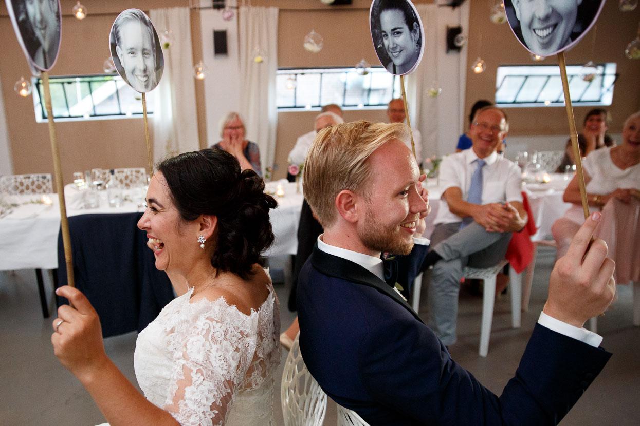 Mr en Mrs spel bruiloft