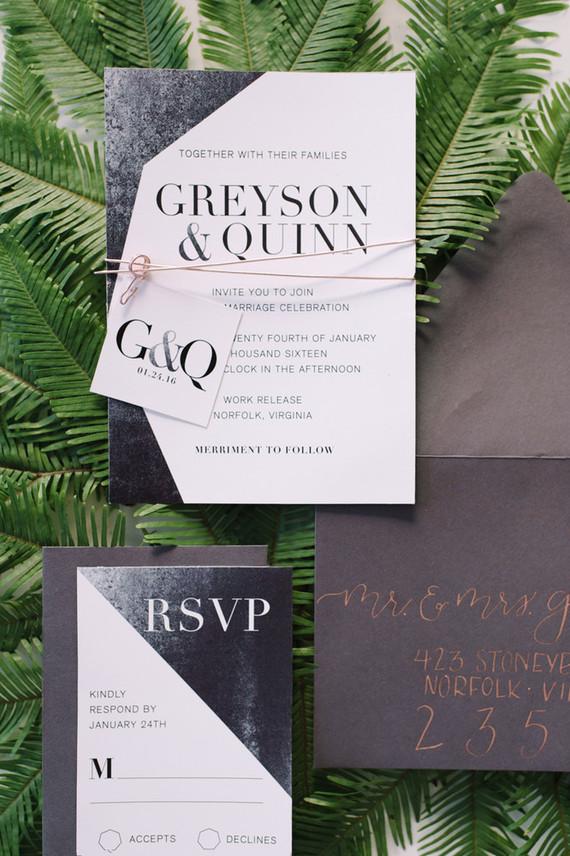 Industriële bruiloft uitnodigingen
