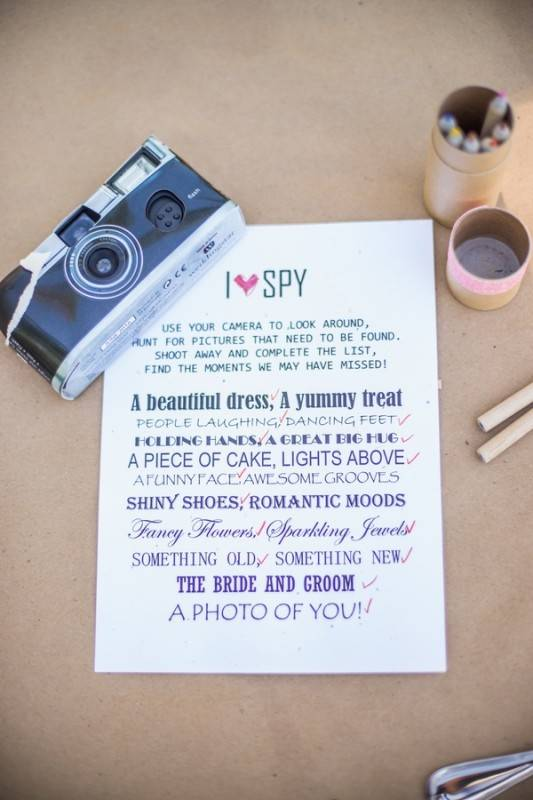 Interactief bruiloft spel met foto's