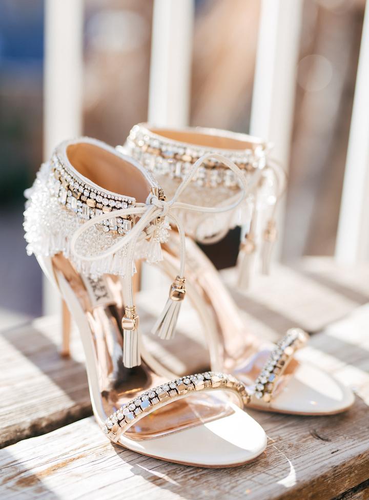 Bruidsschoenen met hoge hak