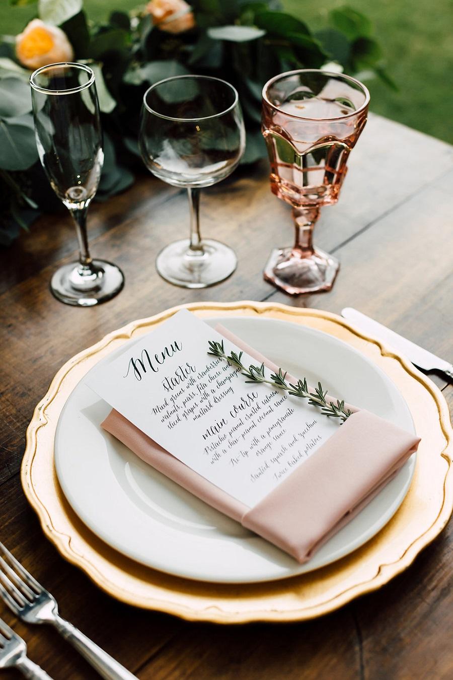 Tafeldecoratie bruiloft diner