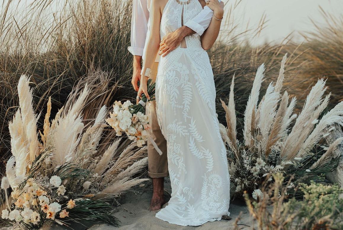 Bohemian bruidspaar