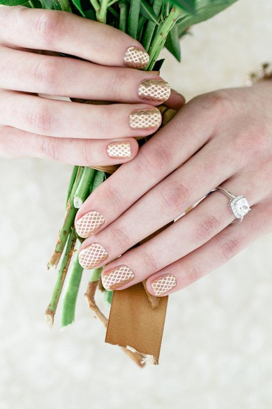 Nail art bruid