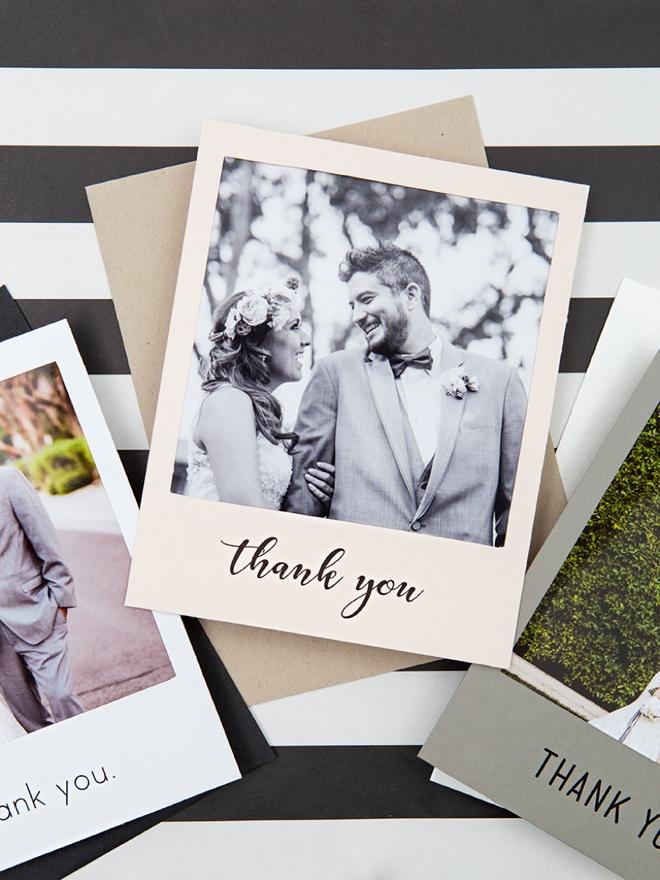 Bedankkaartje met foto