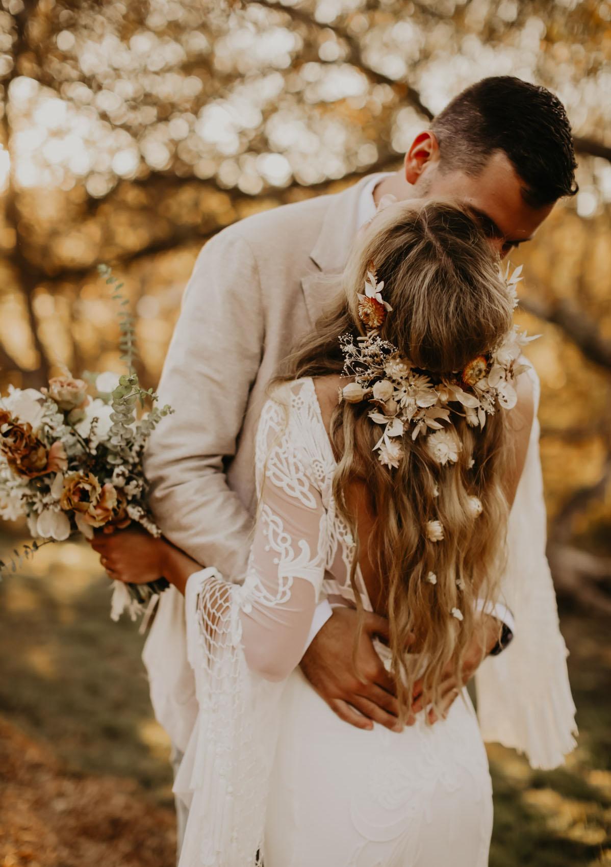 Bruidsfoto tijdens fotoshoot