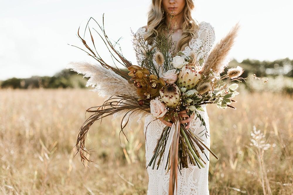 Bohemian bruidsboeket