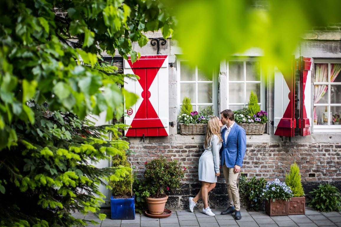 Loveshoot in een tuin