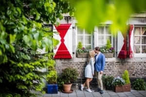 Loveshoot in een tuin