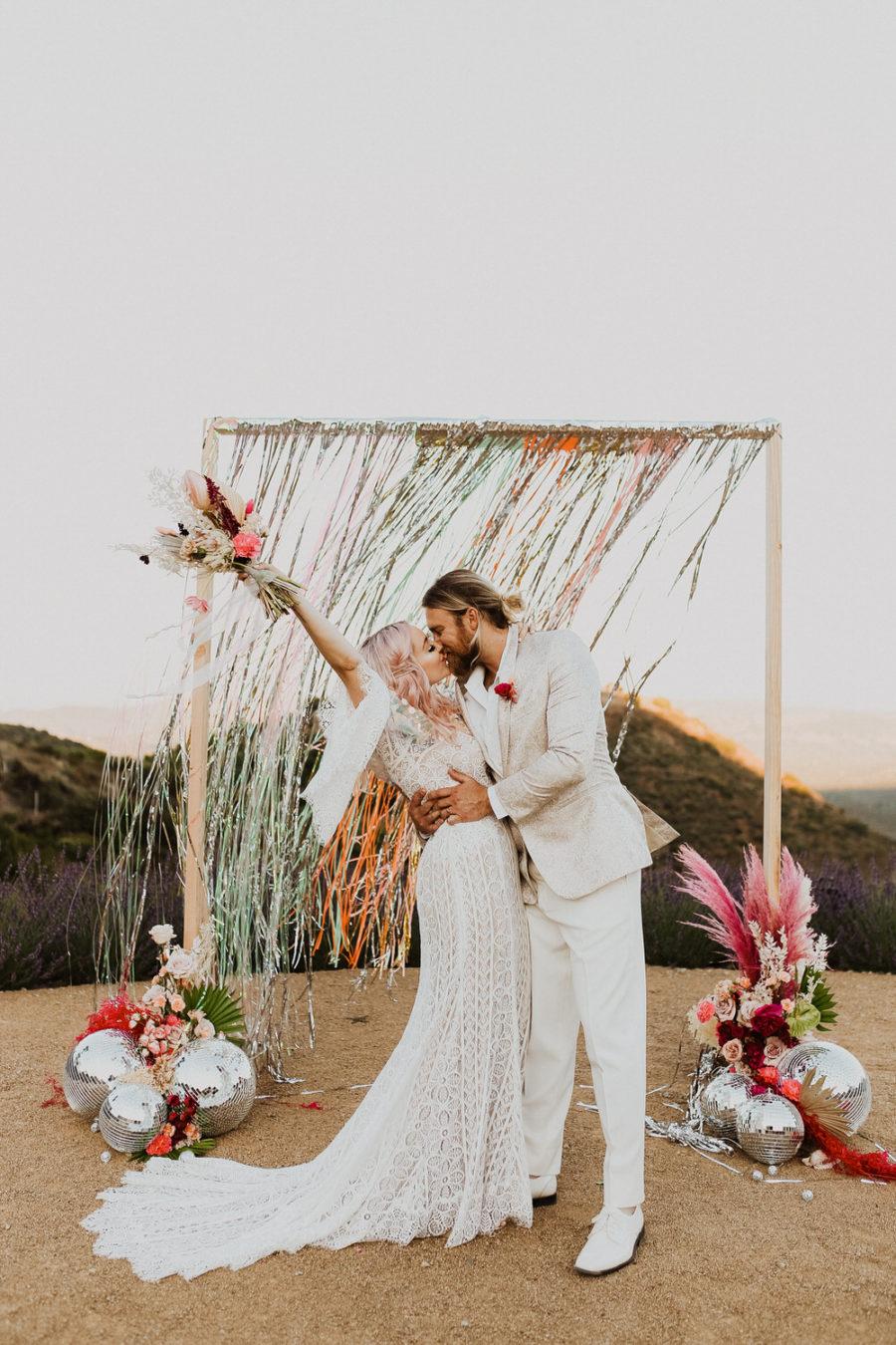 DIY bruiloft decoratie bij