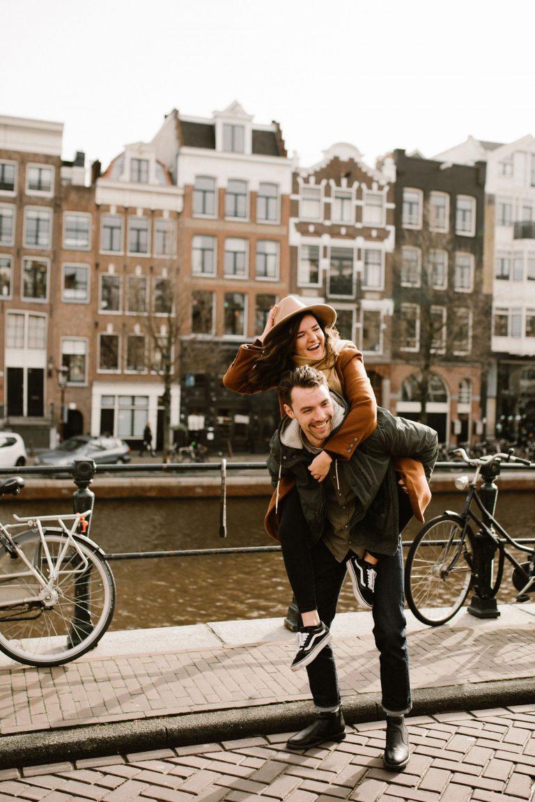 Op huwelijksreis in Amsterdam