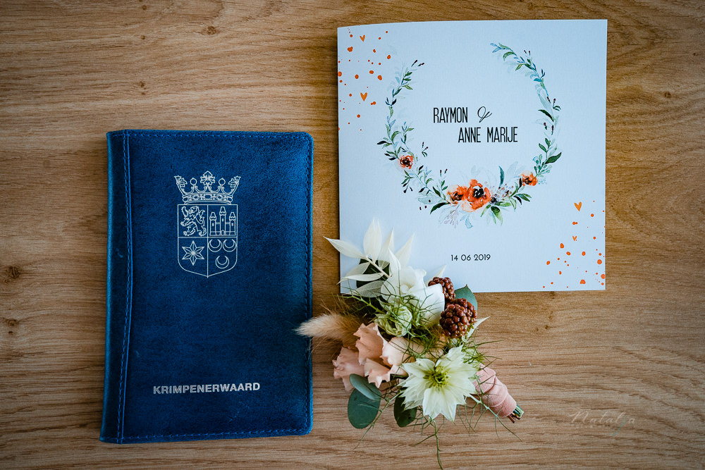 Trouwboekje met trouwkaart