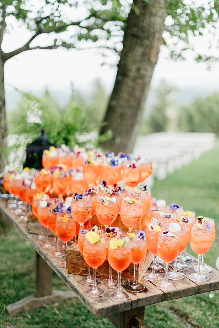 Cocktails op een bruiloft