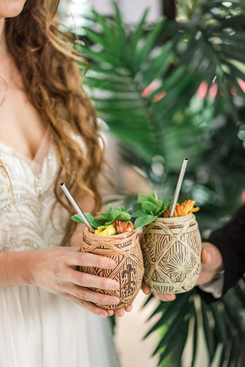 Cocktail als welkomstdrankje op de bruiloft