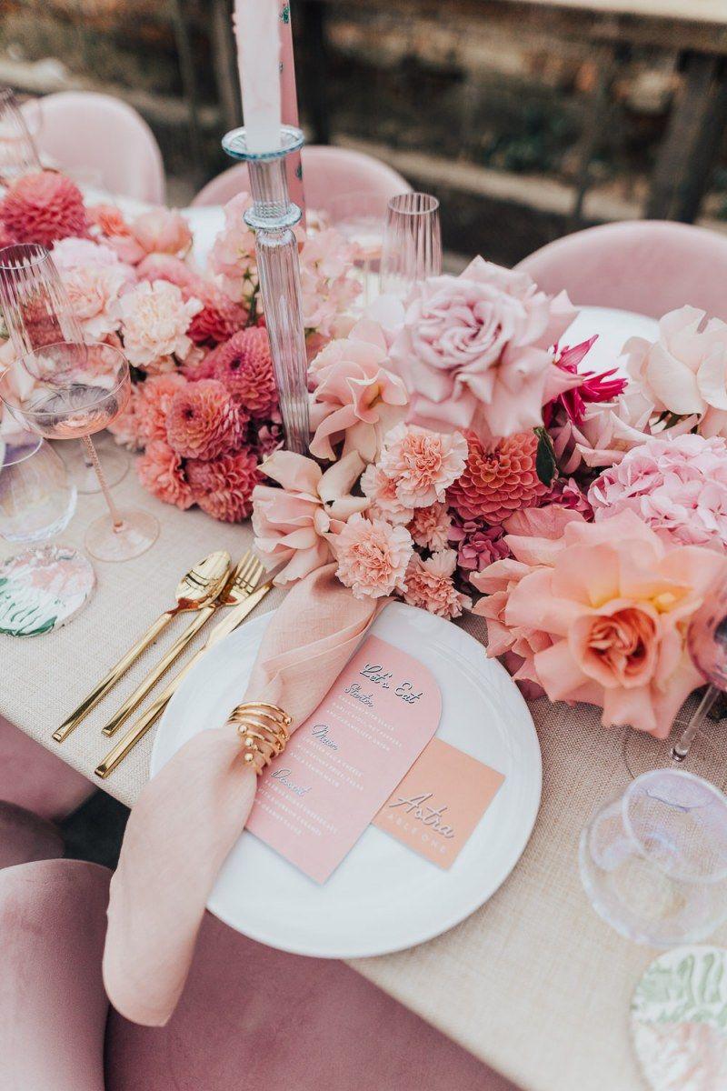 Roze bruiloft thema
