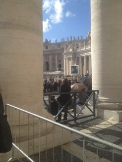 The large columns surround St. Peter's Square.