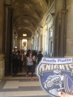 Here we are at the entrance to St. Peter's Basilica.