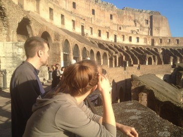 It's huge. Like a football Colosseum except old...the FIRST colosseum ever.