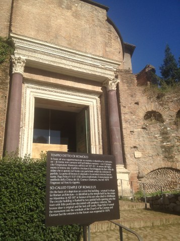 There were plaques in front of some of the buildings telling us what was important about each one. We read some of them, but also tried to just imagine what it would have been like to live in a place like ancient Rome.
