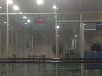 Cairo Airport at the bleak and awful hour of 0:07 in the morning.